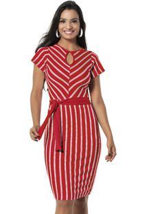 c32aad5649 Madame Chic. Vestido Listrado Vertical