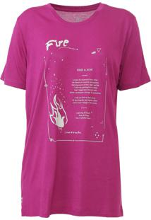 Camiseta Carmim Elements Rosa - Kanui