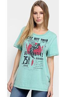 Camiseta Colcci Estampa Urbana Feminina - Feminino