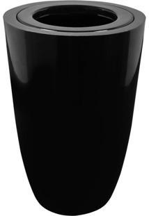 Lixeira Em Fibra Vidro 50L Lfv2F Astra Preto