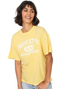 Camiseta Gap Logo Amarela - Amarelo - Feminino - Algodã£O - Dafiti