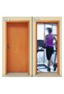Adesivo Decorativo De Porta - Academia - Fitness - 1747Cnpt