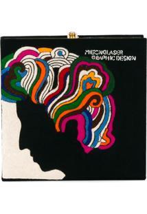 Olympia Le-Tan Clutch 'Milton Glaser' - Preto