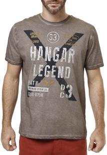 Camiseta Manga Curta Masculina Marrom - Masculino