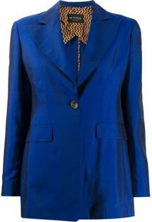 Etro Blazer Com Abotoamento Simples - Azul