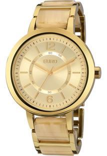 Relógio Euro Feminino Acetato Bicolor Eu2035Ydj/4D - Bege