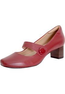 Sapato Boneca Laura Prado Confort Vermelho
