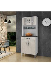 Armário De Cozinha Milão Nevada 4 Portas 1 Gavetão - Arte Móveis