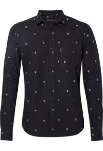 Camisa John John William Algodão Preto Masculina (Preto, P)