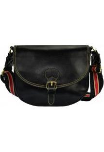 1235760ae ... Bolsa De Couro Smartbag Transversal Berlim Tricolor