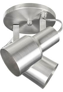 Spot 1020 Alumínio Escovado 2 Lâmpadas Pavilonis