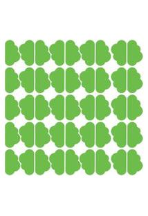 Adesivo De Parede Nuvens Verde Claro 45Un