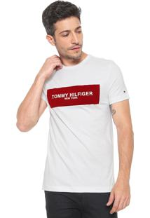 3432547d78b ... Camiseta Tommy Hilfiger Box Logo Branca