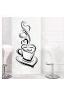 Adesivo De Parede Para Cozinha Xícara De Café 1 - Extra Grande