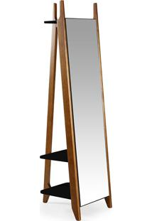 Espelho Stoka – Máxima - Nogal / Preto