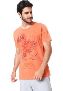 Camiseta Aramis Floral Stone Laranja