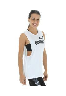 ... Camiseta Regata Puma Cut Off Boyfriend Tank - Feminina - Branco 1b01dd26e04