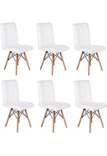 Cadeira E Banco De Jantar Impã©Rio Brazil Eiffel Gomos Estofada - Branco/Incolor - Dafiti