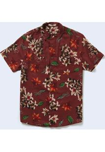 Camisa Mc Estampa Pictoflower Varejo Marrom