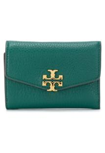 Tory Burch Carteira Com Placa De Logo - Verde