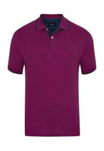 Camisa Polo Classic New Fúcsia Masculina - Masculino-Vinho