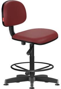 Cadeira Caixa Alta Secretária Giratória Courvin Vinho