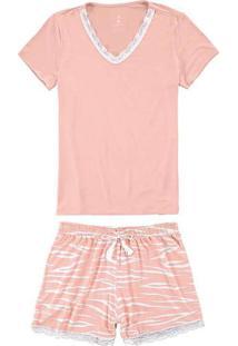 Pijama Feminino Curto Malwee 1000069320 01949-Cora