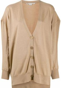 Stella Mccartney Cardigan Oversized De Lã - Neutro