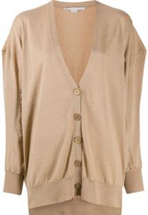 Stella Mccartney Oversized Wool Cardigan - Neutro