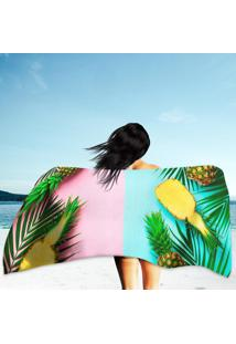 Toalha De Praia / Banho Pineapples And Palm