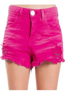 Shorts Sarja Destroyed Used Desfiado Color Colcci