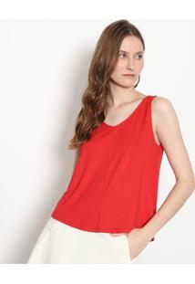 Blusa Com Fenda - Vermelha - Malweemalwee