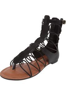 Sandália Dakota Gladiadora Preta