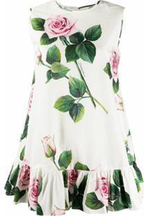 Dolce & Gabbana Túnica Com Estampa Tropical Branca - Branco