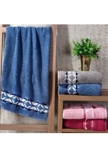 Kit Toalha De Rosto Premier Azul Infinity - 4 Unidades