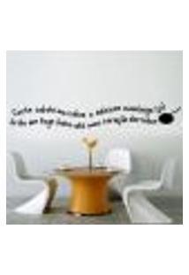 Adesivo De Parede Frase Cozinhe Com Amor... - M 20X119Cm