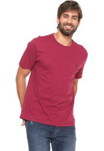 Camiseta Aleatory Reta Botone Vinho