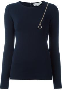Stella Mccartney Blusa Com Detalhe De Zíper - Azul