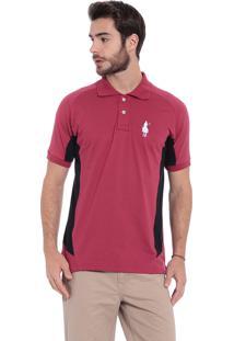 Camisa Polo Club Polo Collection 3 Back Bordô