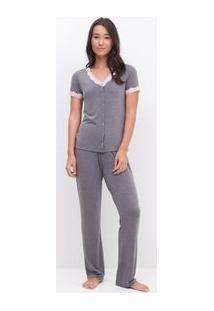 Pijama Com Renda E Abertura Total