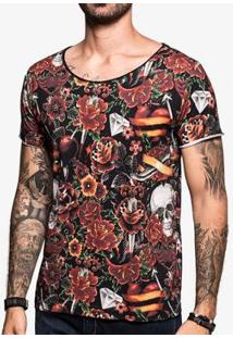 Camiseta Hermoso Compadre Tattoo Watercolor Ul - Masculino-Preto