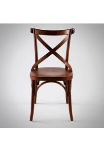 Cadeira Cruz Madeira Maciça Inspirada No Design De Michael Thonet