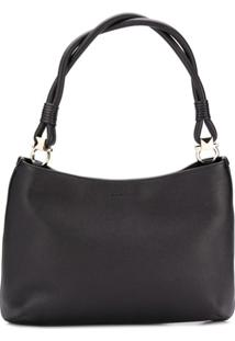 Salvatore Ferragamo Braided Handle Shoulder Bag - Preto