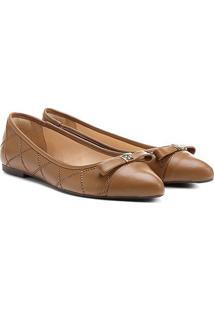 Sapatilha Couro Shoestock Matelassê Bicolor Feminina - Feminino-Caramelo