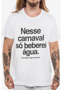 Camiseta Lúpulo Carnaval Branca 103569