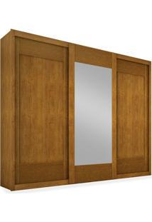 Armário 3 Portas De Correr Com Espelho Central, Imbuia, Anthony Ii