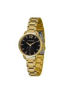 Kit Relógio Feminino Lince Lrgh120L-Kx09P2Kx Analógico 5Atm + Pulseira   Lince   Preto   U