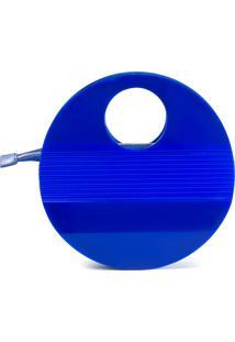 Bolsa De Acrílico Isla Galerias Oval Cor Azul Royal - Kanui