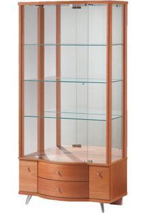 Cristaleira Box Madeira Macica Cor Nogal 90 Cm (Larg) - 3932 - Sun House