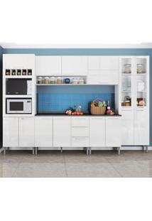 Cozinha Compacta 15 Portas Rafaela 0423T Branco - Genialflex
